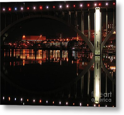 Tennessee River In Lights Metal Print by Douglas Stucky