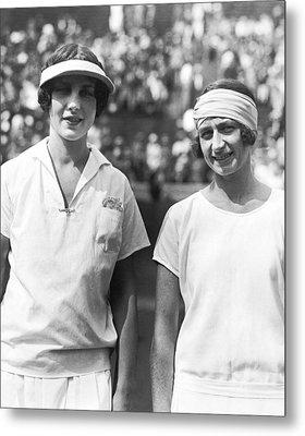 Tennis Champion Helen Wills Metal Print by Underwood Archives