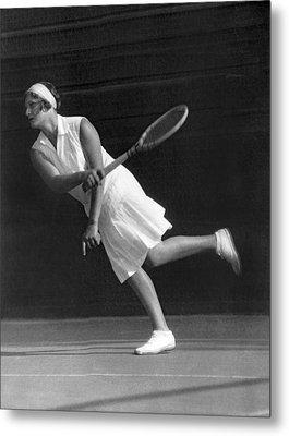 Tennis Champion Kitty Godfree Metal Print by Underwood Archives