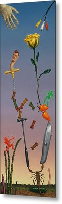 Tenuous Still-life 3 Metal Print by James W Johnson