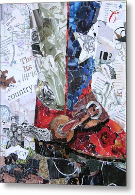 Texas Boot Metal Print by Suzy Pal Powell