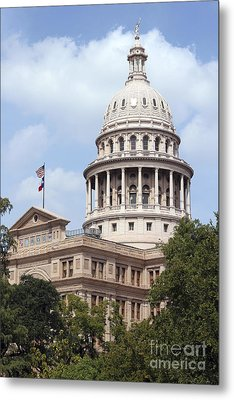 Texas Capitol Metal Print by Jeannie Burleson