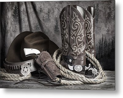 Texas Lawman Metal Print by Tom Mc Nemar