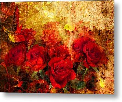 Texture Roses Metal Print by Svetlana Sewell