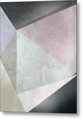 Textured Geometric Triangles Metal Print by Pati Photography