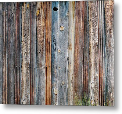 Textures Of An Old Barn Metal Print by Terril Heilman