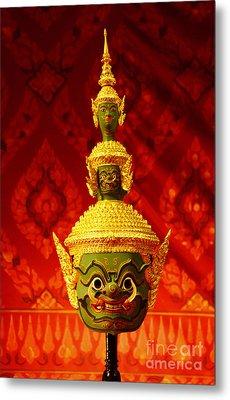 Thai Giant Khon Mask  Metal Print by Nongnuch Leelaphasuk