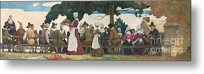 Thanksgiving Banquet Metal Print by Newell Convers Wyeth