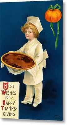 Thanksgiving Card Metal Print by Ellen Hattie Clapsaddle