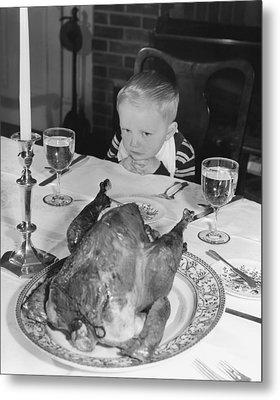 Thanksgiving Dinner Metal Print by American School