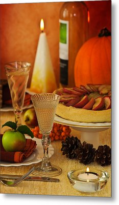 Thanksgiving Table Metal Print by Amanda And Christopher Elwell