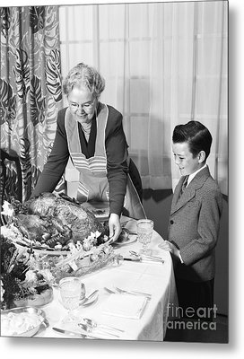 Thanksgiving Turkey, C.1950s Metal Print by H. Armstrong Roberts/ClassicStock