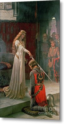 The Accolade Metal Print by Edmund Blair Leighton