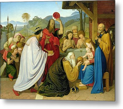 The Adoration Of The Kings Metal Print by Bridgeman
