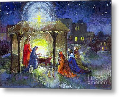 The Adoration Of The Magi  Metal Print by Stanley Cooke