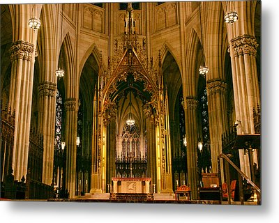 The Altar Of St. Patrick's   Metal Print by Jessica Jenney