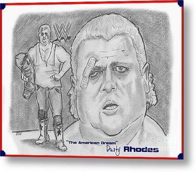 The American Dream Dusty Rhodes Metal Print by Chris  DelVecchio