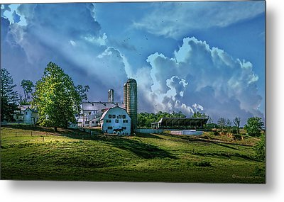 The Amish Farm Metal Print by Marvin Spates