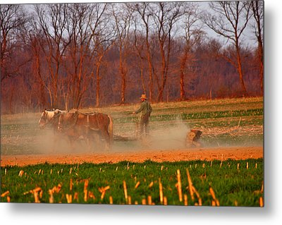 The Amish Way Metal Print by Scott Mahon