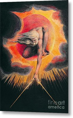 The Ancient Of Days Metal Print by William Blake