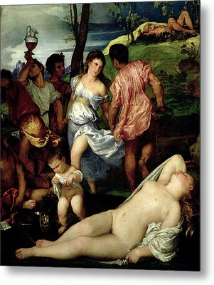 The Andrians Metal Print by Titian