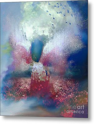 The Angel Of Life And Jonah's Whale Metal Print by Catherine Lott