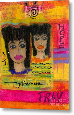 The Angels Of Hope And Prayer Metal Print by Angela L Walker