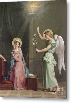 The Annunciation Metal Print by Auguste Pichon