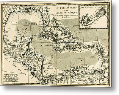 The Antilles And The Gulf Of Mexico Metal Print by Guillaume Raynal