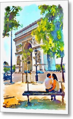 The Arc De Triomphe Paris Metal Print by Marian Voicu