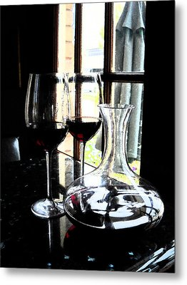 The Art Of Wine Metal Print by Alicia Morales