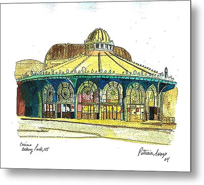 The Asbury Park Casino Metal Print by Patricia Arroyo