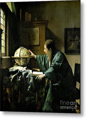 The Astronomer Metal Print by Jan Vermeer
