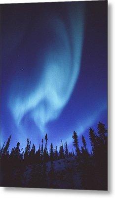 The Aurora Borealis Creates Fantastic Metal Print by Paul Nicklen