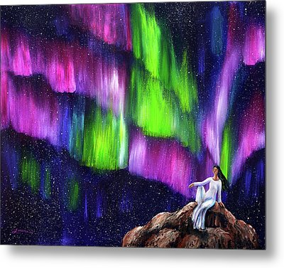 The Aurora Of Compassion Metal Print by Laura Iverson