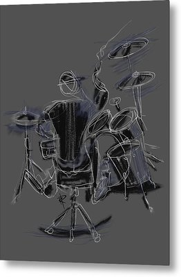 The Back Beat Metal Print by Russell Pierce