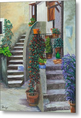 The Back Stairs Metal Print by Charlotte Blanchard
