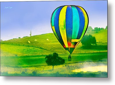 The Balloon In The Farm - Pa Metal Print by Leonardo Digenio