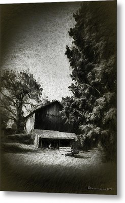 The Barn Yard Wagon Metal Print by Marvin Spates