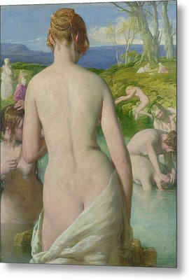 The Bathers Metal Print by William Mulready