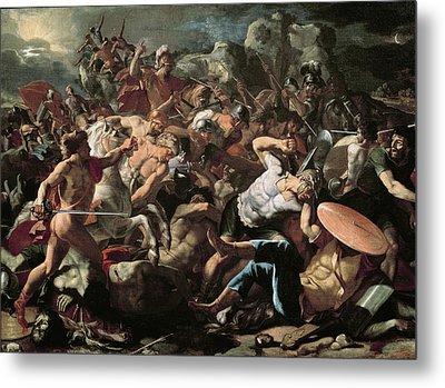 The Battle Metal Print by Nicolas Poussin
