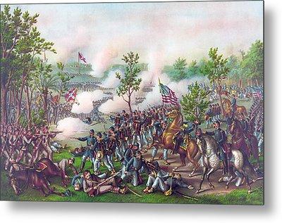 The Battle Of Atlanta, Metal Print by American School