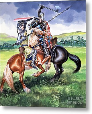 The Battle Of Bannockburn Metal Print by Ron Embleton