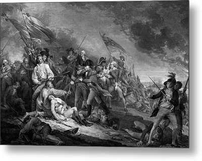 The Battle Of Bunker Hill Metal Print by War Is Hell Store