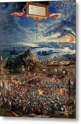 The Battle Of Issus Metal Print by Albrecht Altdorfer