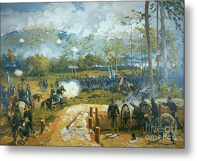 The Battle Of Kenesaw Mountain Metal Print by American School