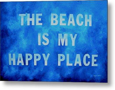 The Beach Is My Happy Place 2 Metal Print by Patti Schermerhorn