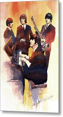 The Beatles 01 Metal Print by Yuriy  Shevchuk