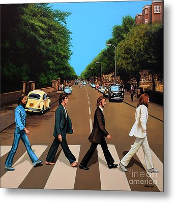 The Beatles Abbey Road Metal Print by Paul Meijering