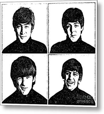 The Beatles No.13 Metal Print by Caio Caldas
